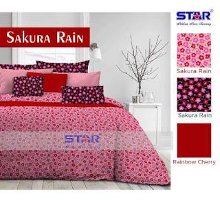 Sprei Cotton Motif Sakura Rain harga murah