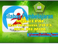 Silabus Kurikulum 2013 Mata Pelajaran PAI dan Bahasa Arab untuk MI MIN MIM kelas 1-6 format Word
