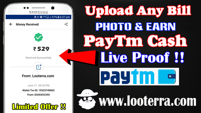 upload 2018 bills photo & earn free paytm cash