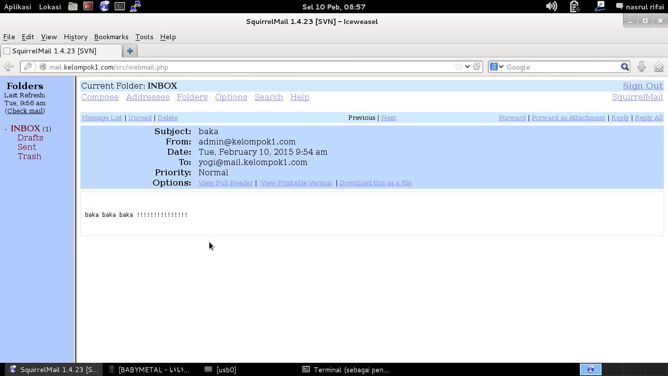 Instalasi Dan konfigurasi Web Mail Server Linux Debian 7