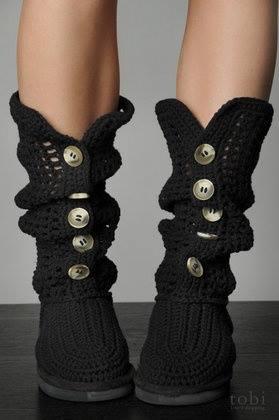 szydelkowe buty