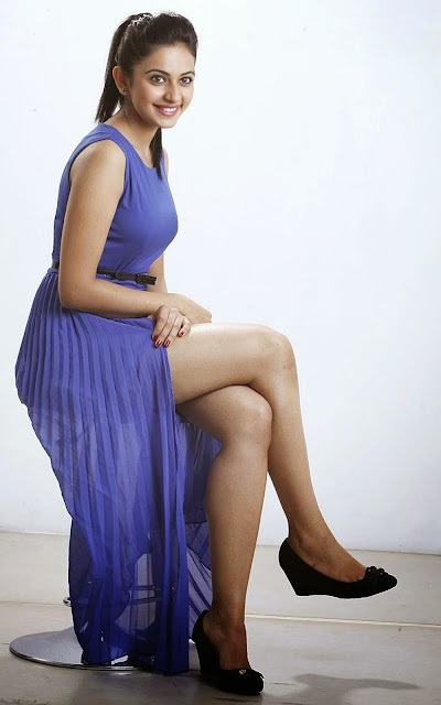 Meena Cute Wallpapers Rakul Preet In Hot Blue Top Watch Continuously Sexy
