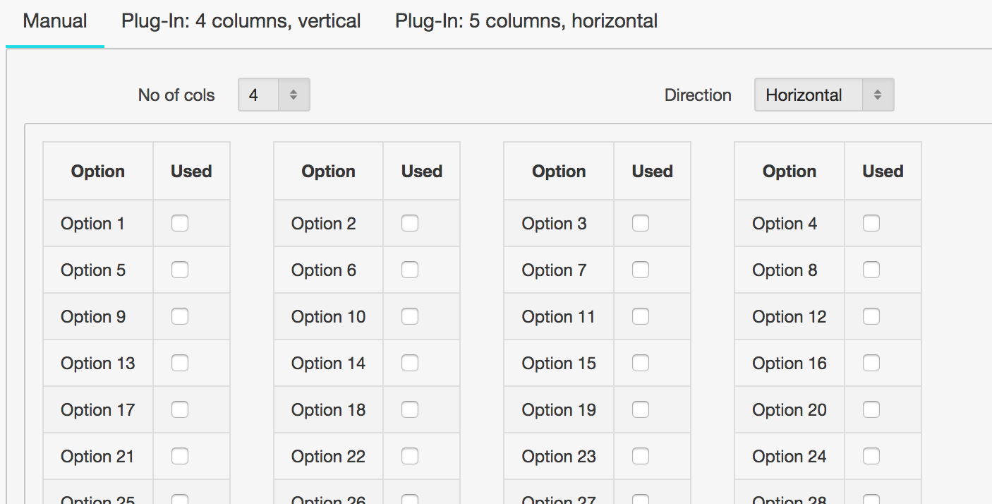 About Oracle: Plug-in for Splitting reports into columns