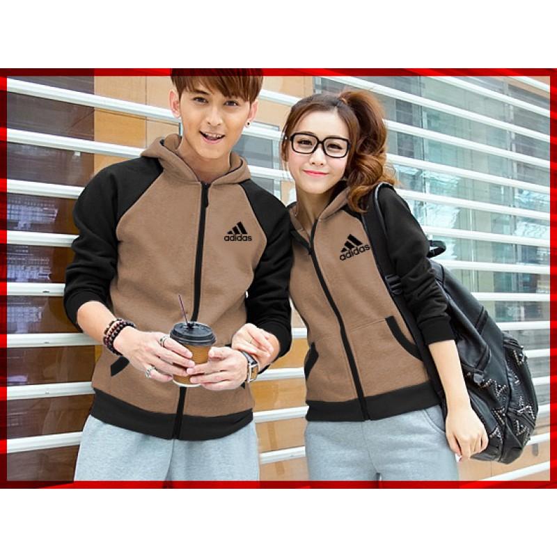 Jual Online Jaket Adidas Campus Mocha Couple Murah Jakarta Bahan Babytery Terbaru
