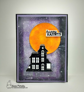 Happy Haunts a card by Diane Morales | Spooky Street Stamp Set by Newton Nook Designs