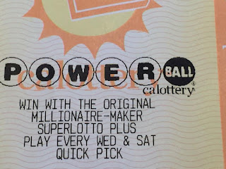 A Powerball ticket