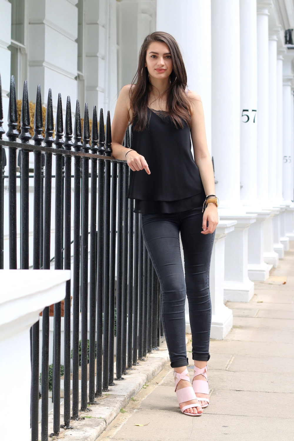 all black fashion outfit street style london