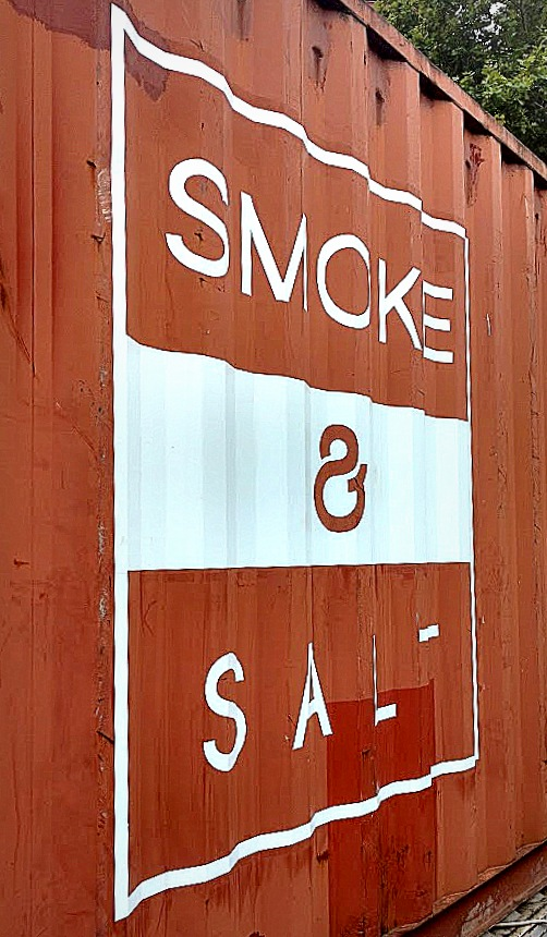 Smoke and Salt shipping container, an imagined journey of its travels across the world.