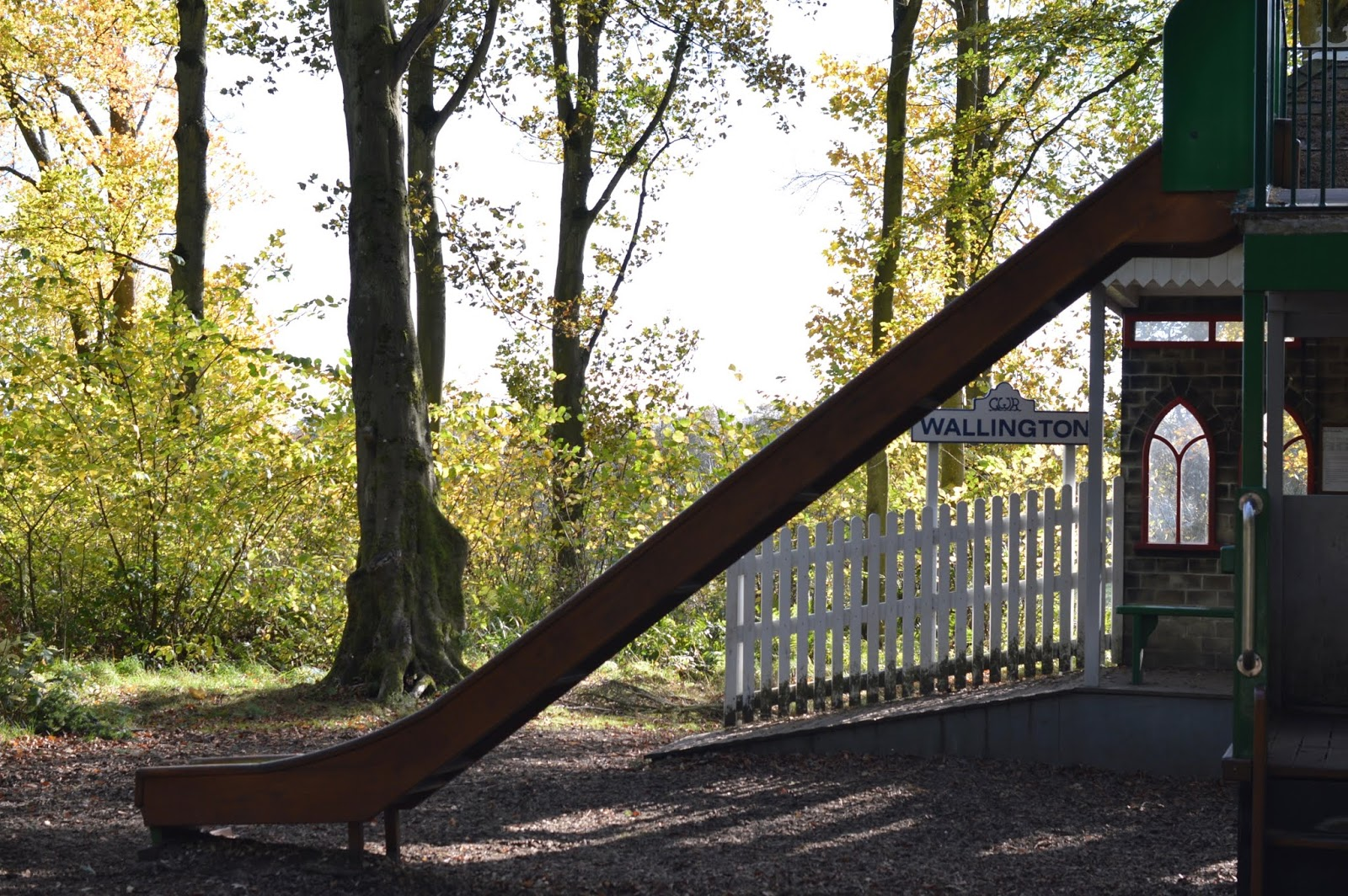 Visiting the Adventure Playground & Outdoor Play Areas at Wallington Hall  - Wallington station