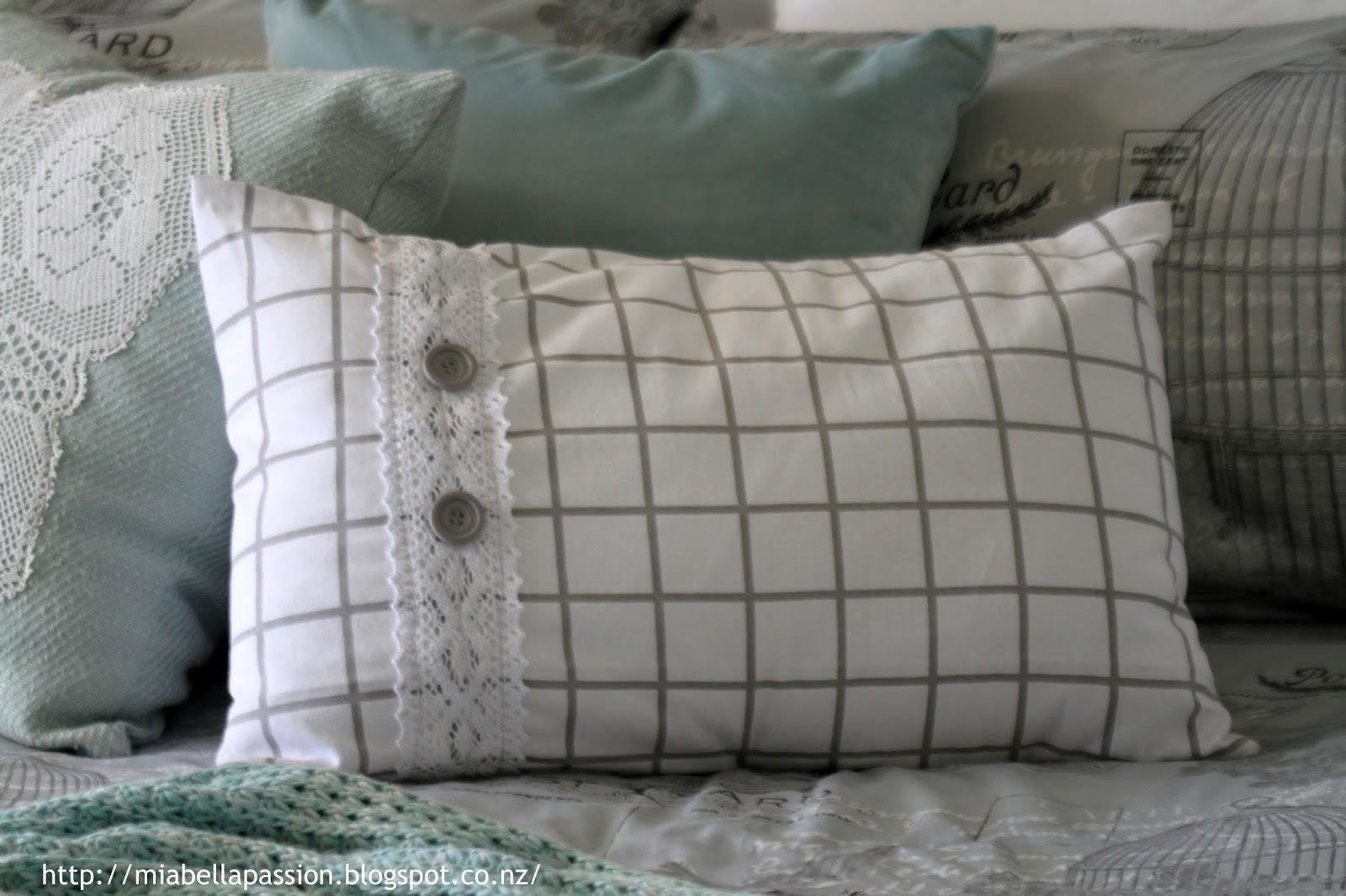 Mia Bella Passions The Grid Diy Tea Towel Cushion