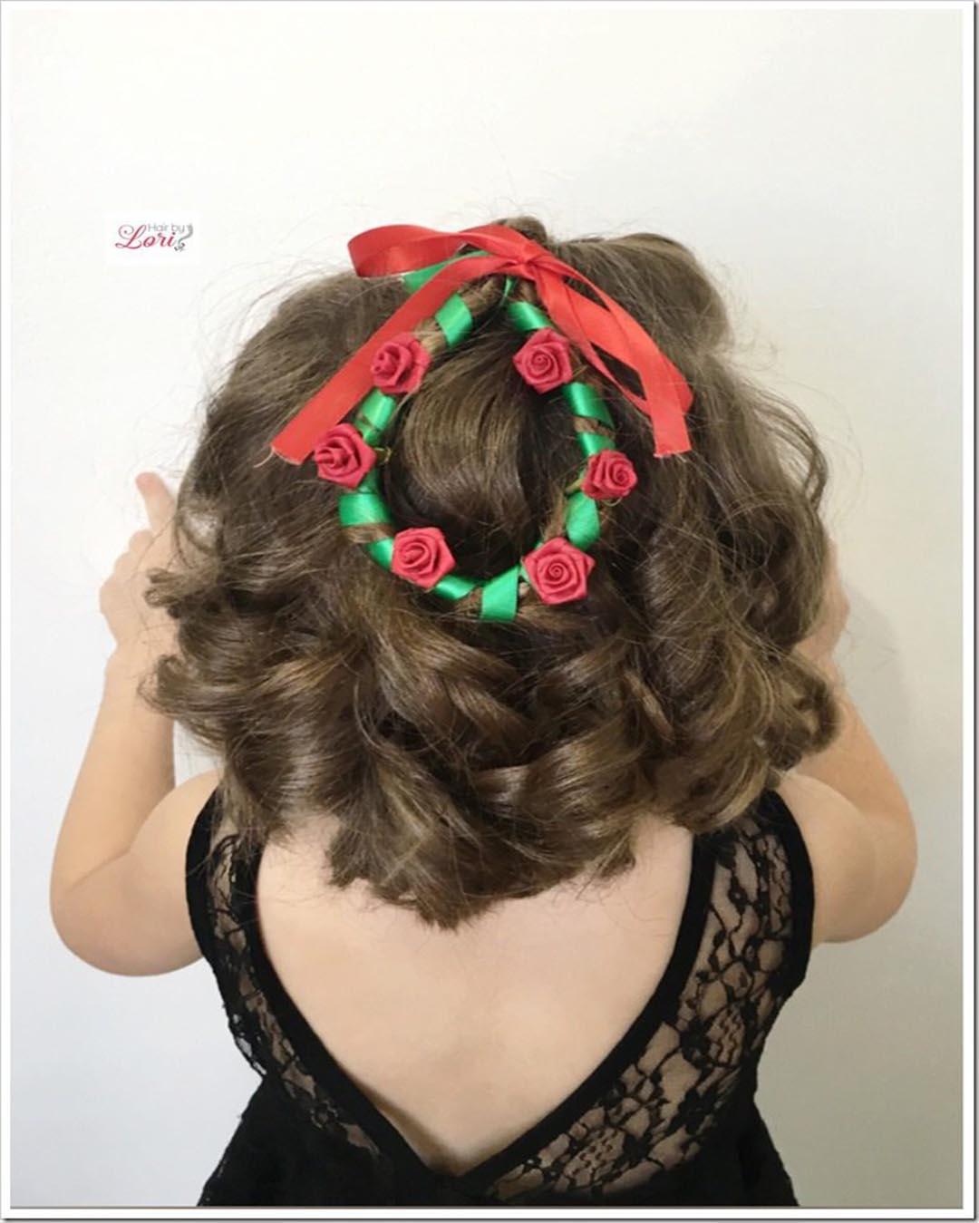 Súper fácil peinados para navidad Imagen de cortes de pelo estilo - Peinados de NAVIDAD para niñas fáciles y sencillos - ElSexoso