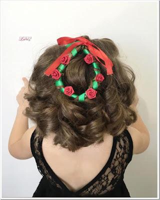 peinado de navidad con cabello corto para niñas