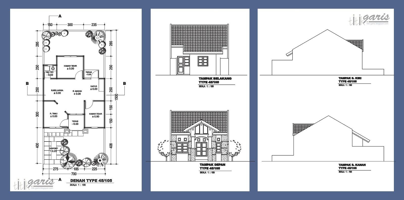 contoh gambar denah rumah 3d 3
