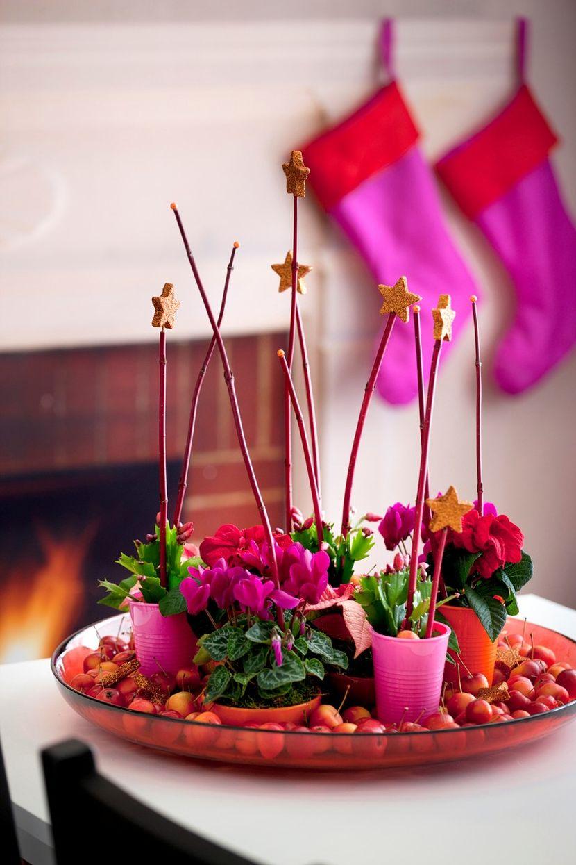 fleur pour deco table noel