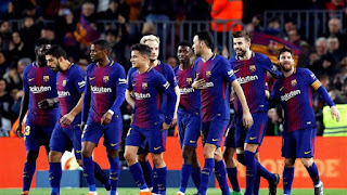 برشلونة يسحق ليون بخماسية ليتأهل لربع نهائي دوري أبطال أوروبا
