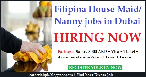 Filipino Female Housemaid Nanny jobs in Dubai