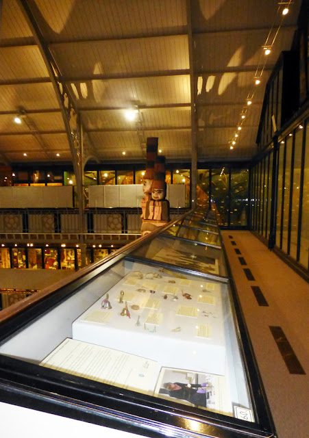 View of the cases along the Pitt Rivers Museum's Upper Gallery
