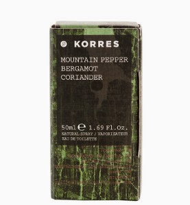 Korres mountain pepper fragrance