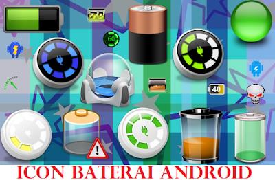 Kumpulan Icon Baterai Android Terbaru dan Cara Menggantinya