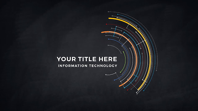 Technical Title and Background Free PowerPoint Template Slide 1