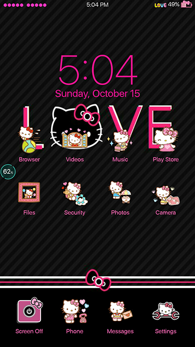 Oppo Theme: Oppo F3|F3 Plus Black and Pink IOS Theme