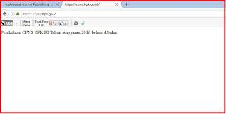 Info Resmi CPNS BKP hanya di cpns.bpk.go.id