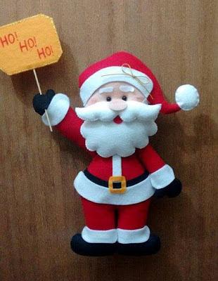 DIY - Decoração de Natal Com Feltro Super Fácil de Fazer Com Moldes