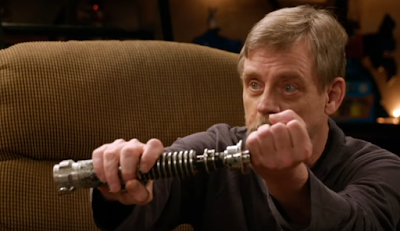 mark hamill reunited lightsaber