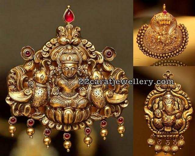 Lakshmi Ganesh Pendants by CKS