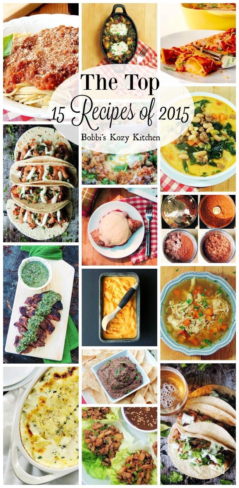 The Top 15 Recipes of 2015 on www.bobbiskozykitchen.com