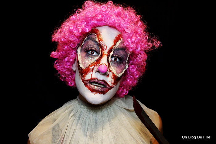 Un Blog De Fille Maquillage Halloween Clown Sanglant