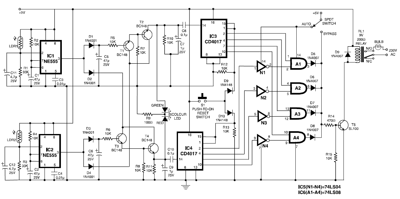 automatic time out with on off circuit