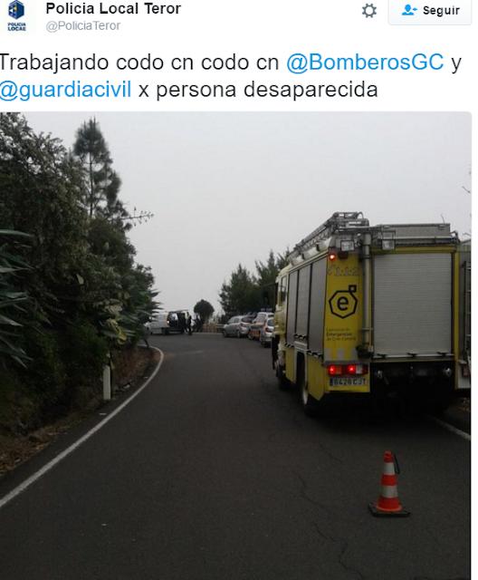 Una persona desaparecida en  El Hoyo Teror, Gran Canaria