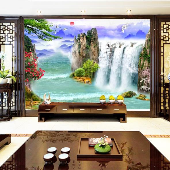 Tranh Phong cảnh file gốc psd
