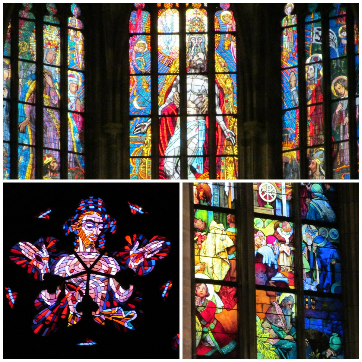 st vitus stained glass windows