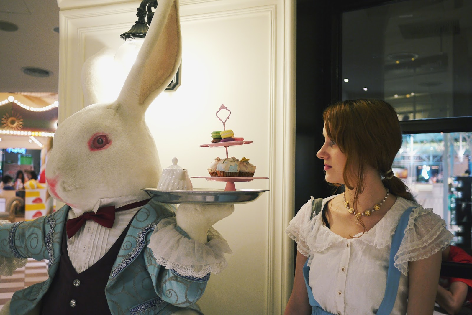 xinyi taipei att4fun alice in wonderland white rabbit photo