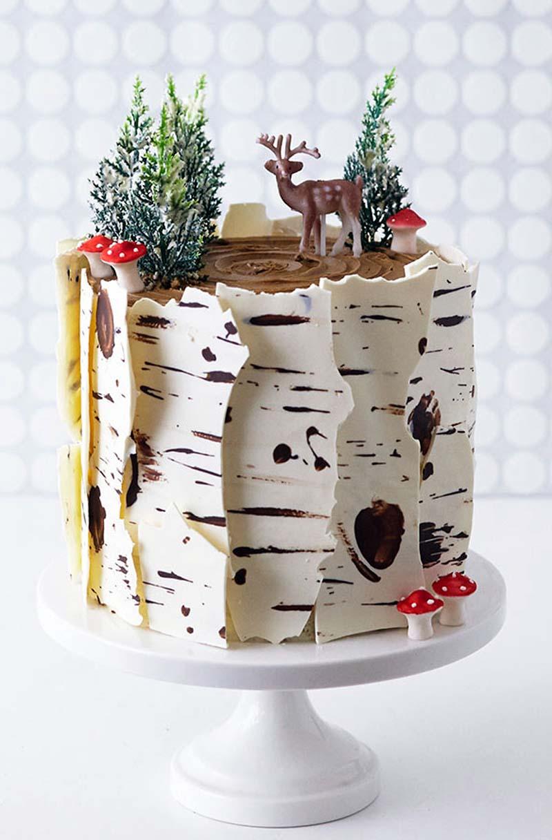 Birch Log Cake