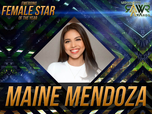 LION: Maine Mendoza bags Emerging Female Star of the Year #RAWRAwards2016