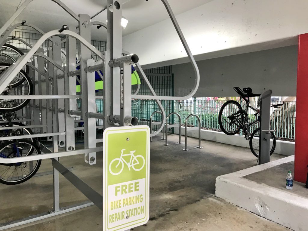 miami beach bicycle parking repair stations the miami. Black Bedroom Furniture Sets. Home Design Ideas