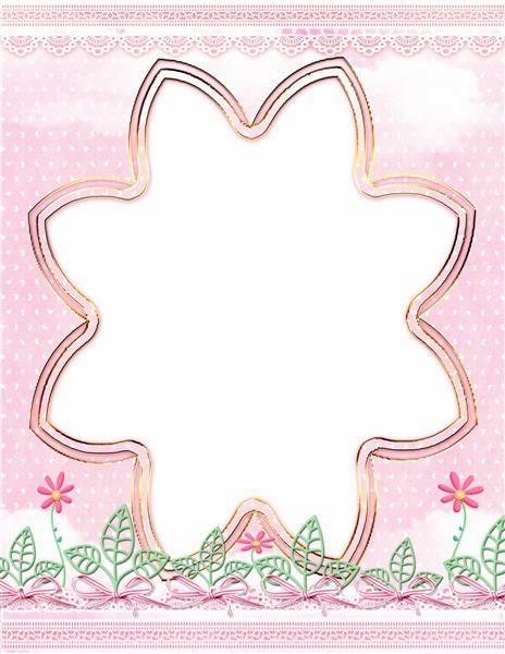 Marco para fotos color rosa para descargar gratis en png