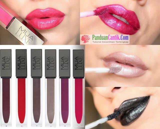 MUA LUXE Metallic Liquid Lipstick Glitter - Video Daftar Merk Lipstik Warna Metalik Terbaik Yang Bagus Tahan Lama dan Murah Harganya