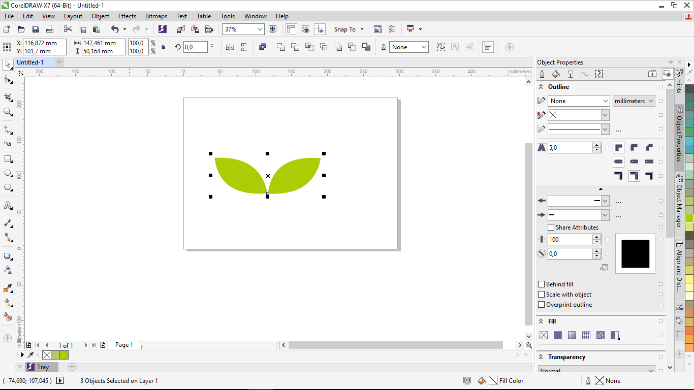 Cara Membuat Gambar Daun Di Corel Draw Menggunakan freehands tool | Bacagi