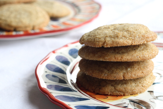 spiced vanilla cookies