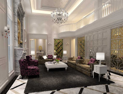 Desain interior Ruang Tamu Mewah