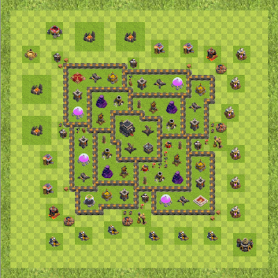 War Base Town Hall Level 9 By Nathan Cornish (Overall Cover TH 9 Layout)