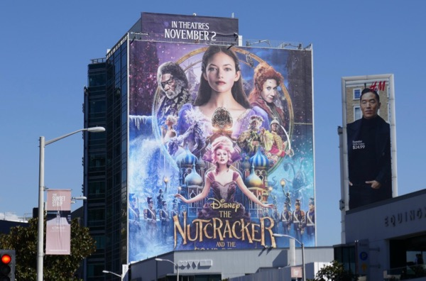 Nutcracker and Four Realms movie billboard
