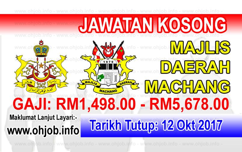 Jawatan Kerja Kosong Majlis Daerah Machang logo www.ohjob.info oktober 2017