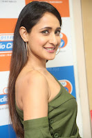 Pragya Jaiswal in a single Sleeves Off Shoulder Green Top Black Leggings promoting JJN Movie at Radio City 10.08.2017 139.JPG