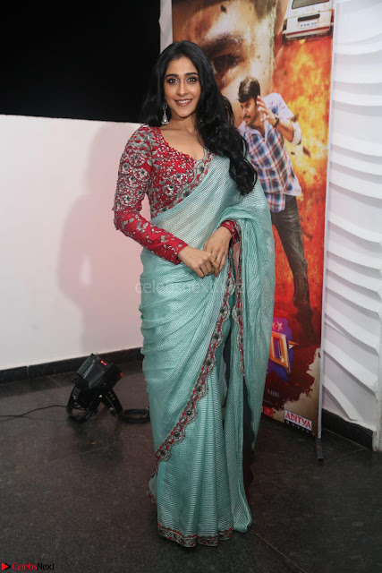 Regina Casandra in Beautiful Designer Saree Stunnign Cuteness at Nakshatram music launch ~ CelebesNext Actress Galleries 006.JPG