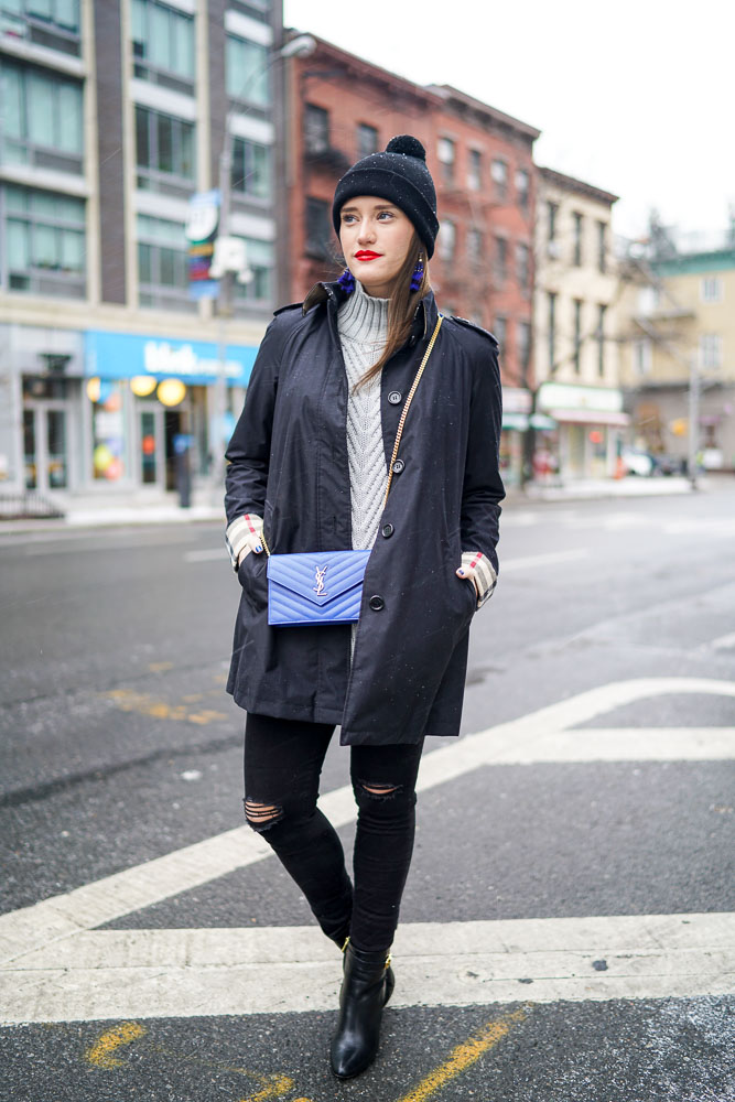 Krista Robertson, Covering the Bases,Travel Blog, NYC Blog, Preppy Blog, Style, Fashion, Fashion Blog, Travel, AG Jeans, Burberry, Trench Coats, Winter Coats, Winter Style, Sweater Weather, How to Layer for Winter